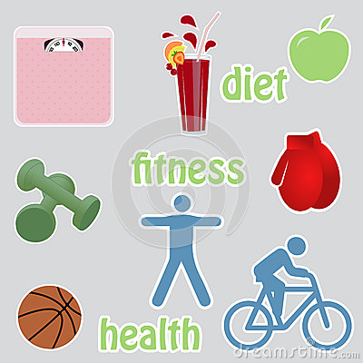 Gesunde lebende stikers