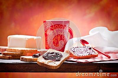 Gesundes und Nährfrühstück
