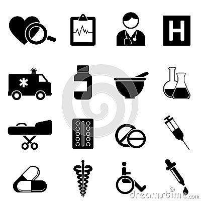 Gesundheit und medizinische Ikonen