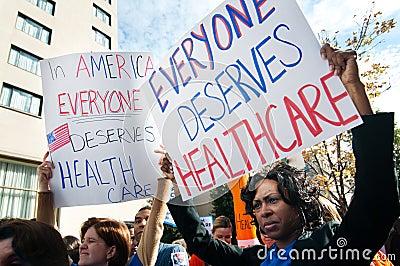 Gesundheitspflege-Protest Redaktionelles Stockfoto