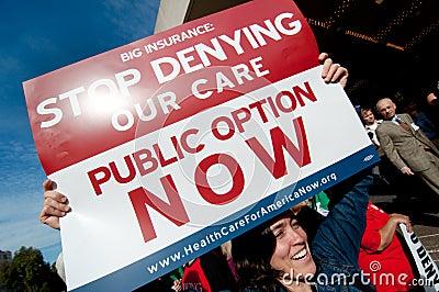 Gesundheitspflege-Protest Redaktionelles Foto