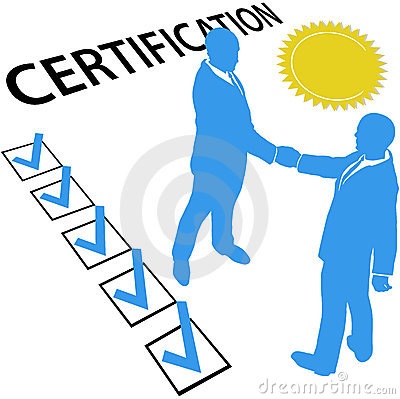 Free Get Certified Earn Official Certification Document Stock Photography - 18887682