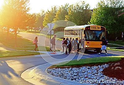 Get on School Bus Editorial Image
