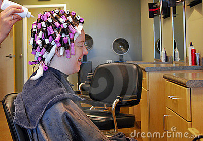 Getting A Perm Stock Photography Image 10218592