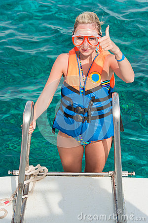 Getting ready for a diving