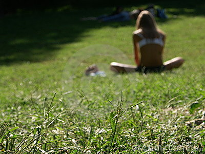 Getting a tan in Central Park