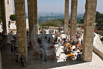 Getty Museum Patio Editorial Stock Photo
