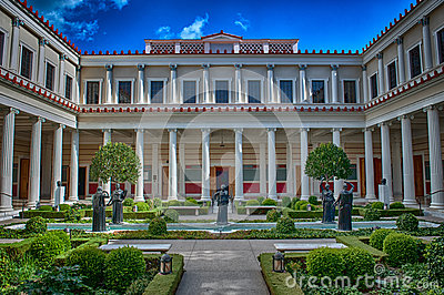 The Getty Villa Editorial Photo