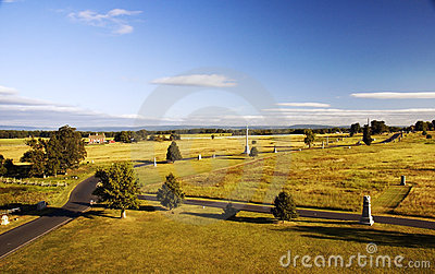 Gettysburg Battlefield from Top of Pennsylvania Monument