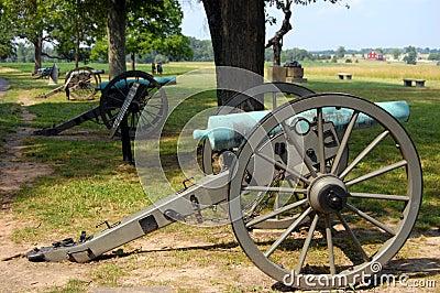 Gettysburg cannon line