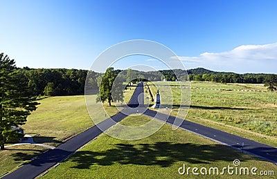 Gettysburg Pennsylvania Battlefield Y Shaped Road