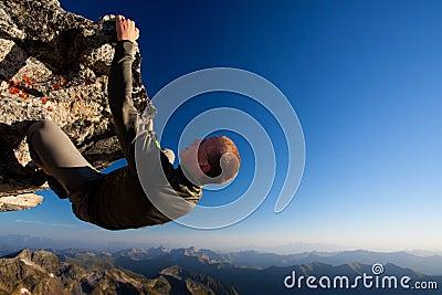 Gevaarlijke bergbeklimming