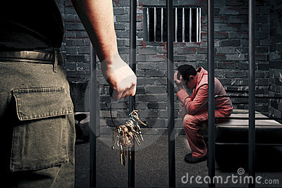 Gevangenbewaarder met sleutels