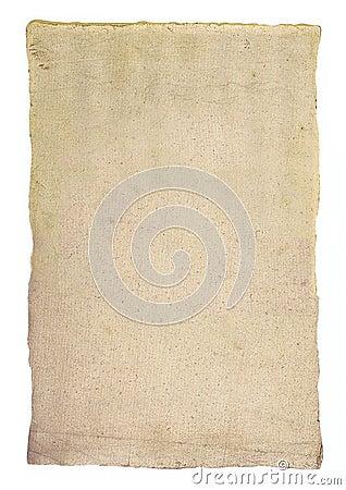 Geweven blad van oud document