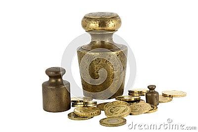 Gewicht en muntstukken
