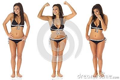 Gewichtverlustdreiergruppen
