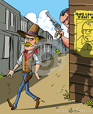 Gewilde affiche voor een cowboy