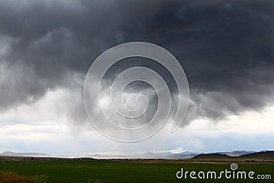 Gewitter in landwirtschaftlichem Idaho