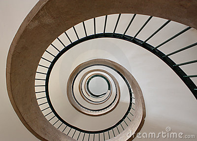 Gewundenes Treppenhaus