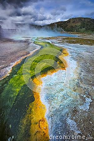 Geyser Basin, Yellowstone National Park, Wyoming