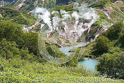 Geysers, volcano