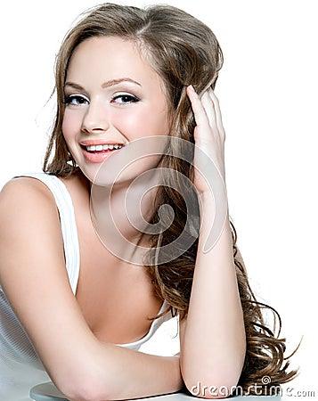 Gezicht van tienermeisje met schone huid stock foto afbeelding 16980790 - Tiener meisje foto ...