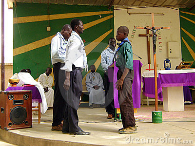 Ghana scouts ceremony Editorial Photo