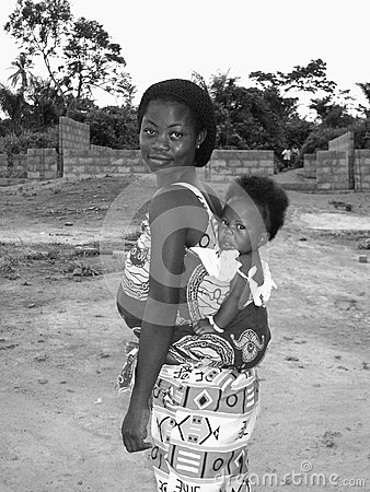 Ghanian Mother and Child Editorial Image