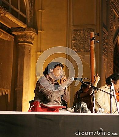 Ghantasala Satya Sai performing Morsing Editorial Image