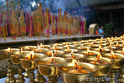 Ghee light,pray for happiness