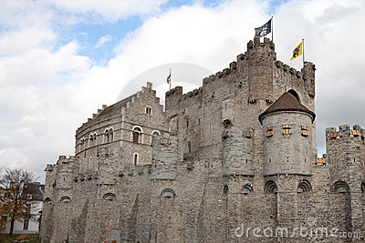 Ghent, Belgium, medieval castle
