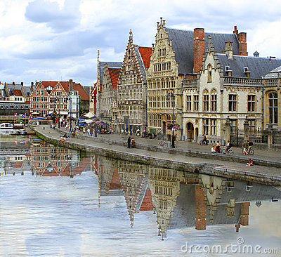 Free Ghent Canal Stock Image - 6406881