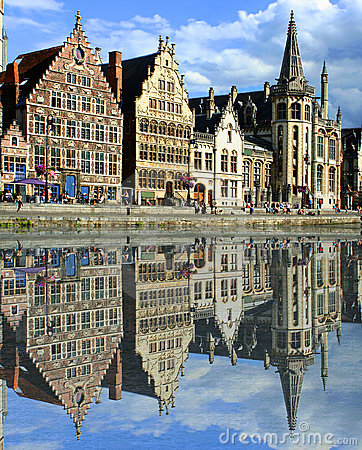 Free Ghent Canal Royalty Free Stock Image - 6417586