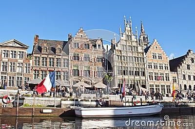 Ghent Canal,Belgium Editorial Image