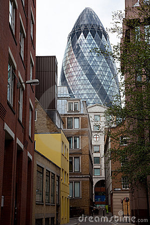 The Gherkin  building in London