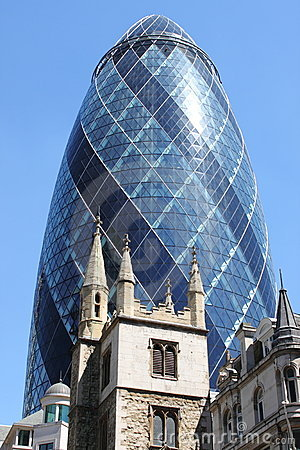 The Gherkin building in London Editorial Stock Photo