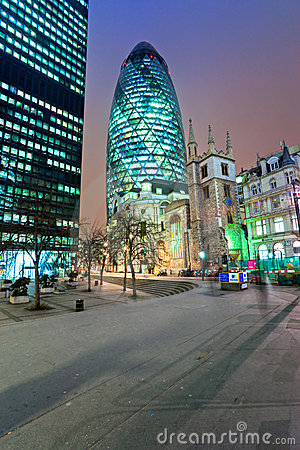 The Gherkin, London, UK. Editorial Photo