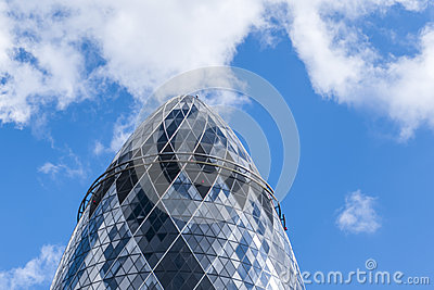 The Gherkin skyscraper London England United Kingdom Editorial Photo