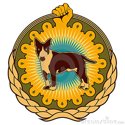 Ghetto emblem with dog.