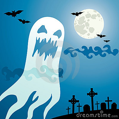 Ghost in the cemetery