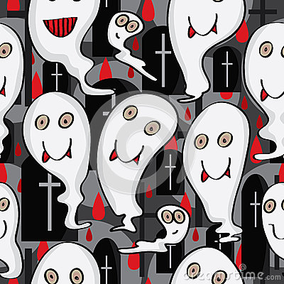 Ghost Character Seamless Pattern_eps