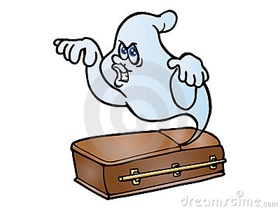 Ghost come out from coffin