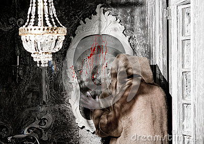 Ghost with a mirror