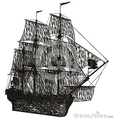 Ghost sailboat