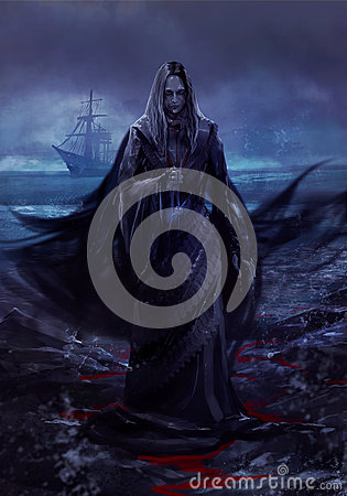 Free Ghost Ship Lady Stock Photography - 43651252