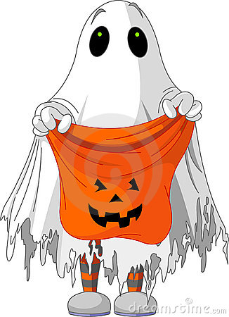Free Ghost Trick Or Treating Stock Photo - 21464850