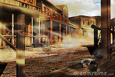 Ghost western town