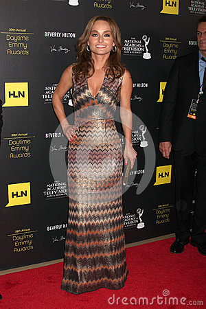 Giada De Laurentiis arrives at the 2012 Daytime Emmy Awards Editorial Stock Image