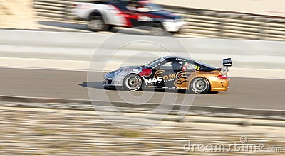 Giancola racing during Porsche GT3 Cup Challenge Editorial Image