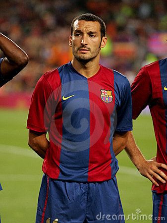 Gianluca Zambrotta of Barcelona Editorial Stock Image